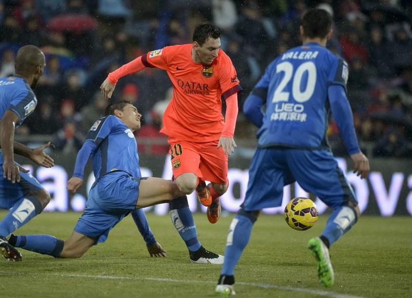 Lionel Messi nie sforsował defensywy Getafe /AFP
