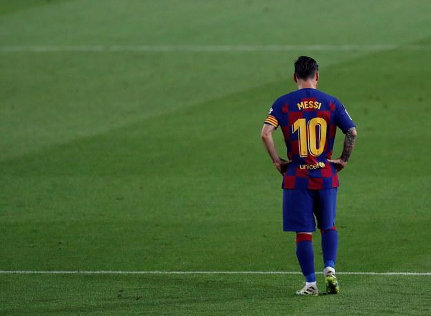 Lionel Messi po zaskakującej porażce Barcelony z Osasuną /ALBERTO ESTEVEZ /PAP/EPA