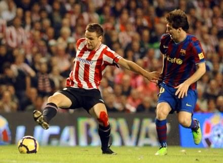 Lionel Messi podczas feralnego dla niego meczu w Bilbao /AFP