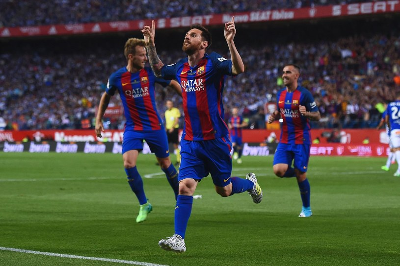 Lionel Messi podczas meczu finałowego Pucharu Króla /AFP