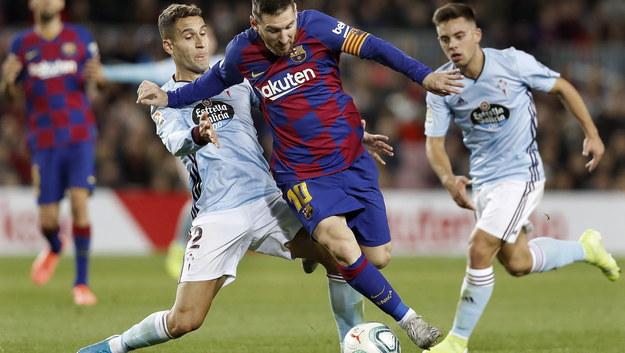 Lionel Messi podczas meczu La Liga z Celtą Vigo /ANDREU DALMAU /PAP/EPA