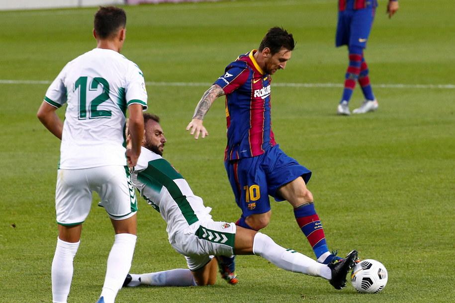 Lionel Messi podczas meczu z Elche /QUIQUE GARCIA /PAP/EPA