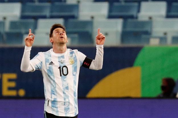 Lionel Messi during the meeting with Bolivia / PAP / EPA / SEBASTIAO MOREIRA / PAP / EPA