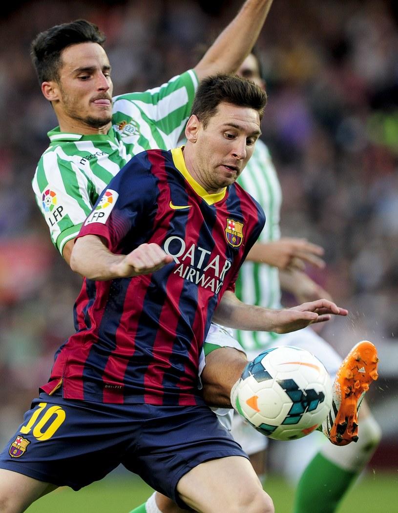 Lionel Messi poprowadził Barcelonę do zwycięstwa /AFP