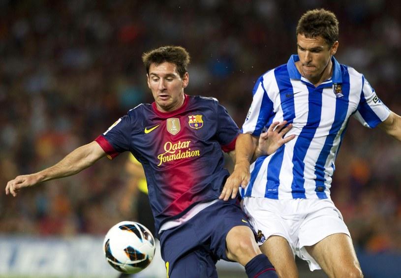 Lionel Messi strzelił dwa gole w meczu z Real Sociedad San Sebastian /PAP/EPA