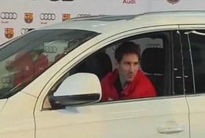 Lionel Messi w audi /INTERIA.PL