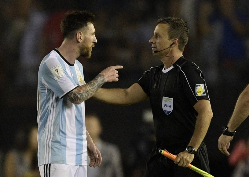 Lionel Messi w meczu z Chile /AFP