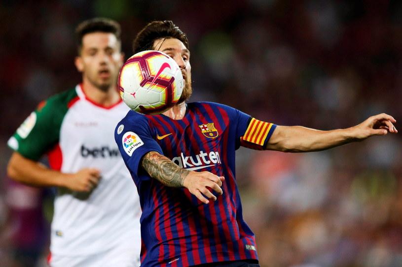 Lionel Messi w meczu z Deportivo Alaves /PAP/EPA