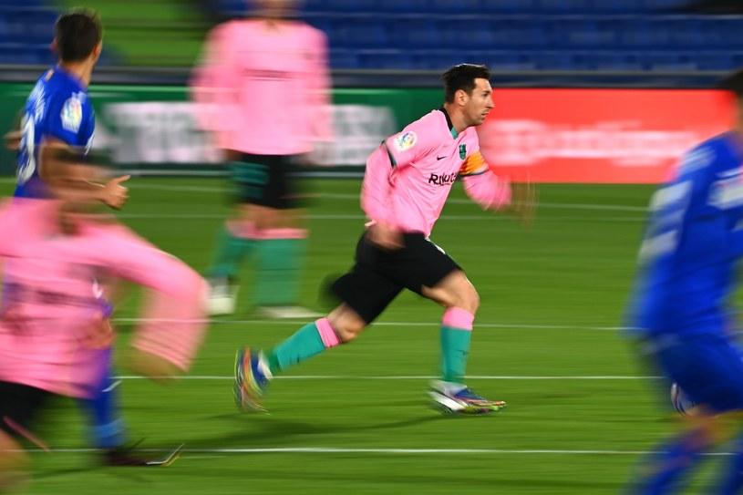 Lionel Messi w meczu z Getafe /AFP