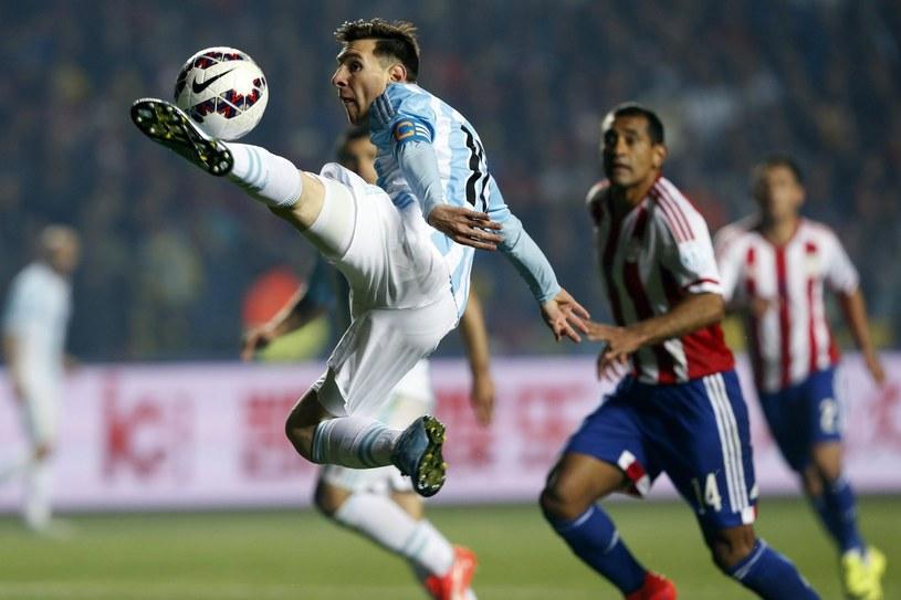 Lionel Messi w meczu z Paragwajem /PAP/EPA