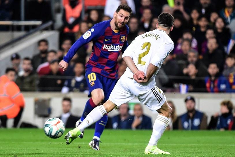 Lionel Messi w meczu z Realem Madryt /AFP