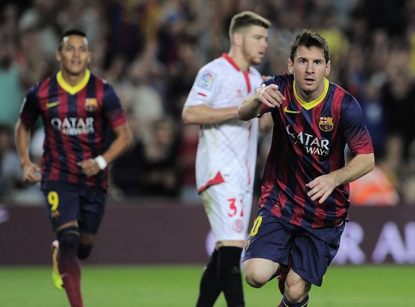 Lionel Messi wpisał się na listę strzelców w meczu z Sevillą /AFP