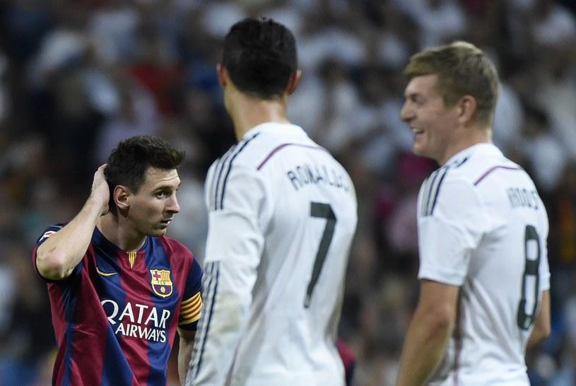Lionel Messi wypadł przeciętnie na tle piłkarzy Realu Madryt /AFP