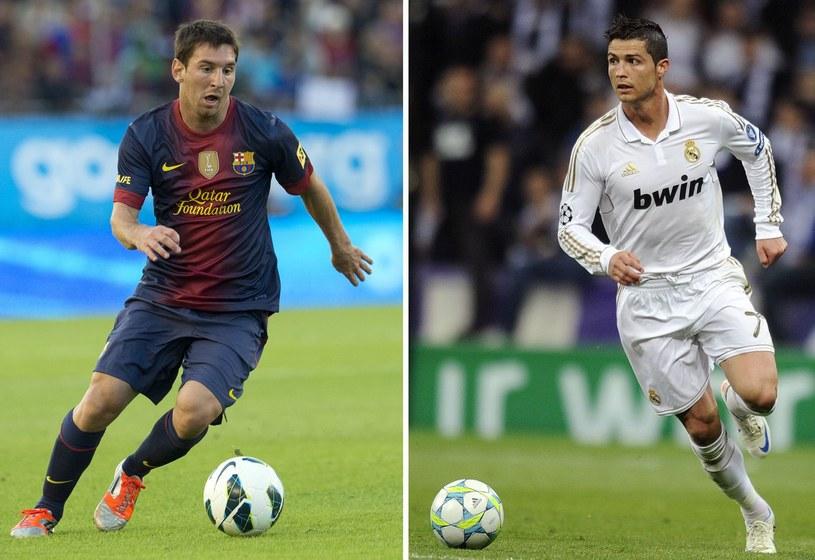 Lionel Messi (z lewej) i jego wielki rywal Cristiano Ronaldo /AFP