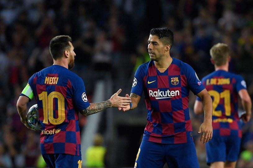 Lionel Messi (z lewej) i Luis Suarez /AFP