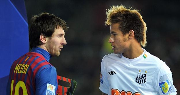 Lionel Messi (z lewej) i Neymar /AFP