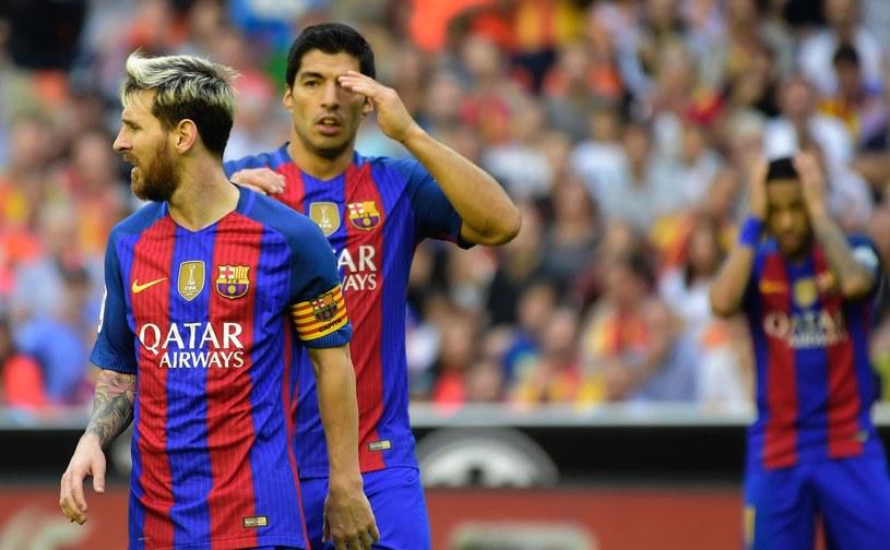 Lionel Messi (z lewej), Luis Suarez i Neymar /AFP