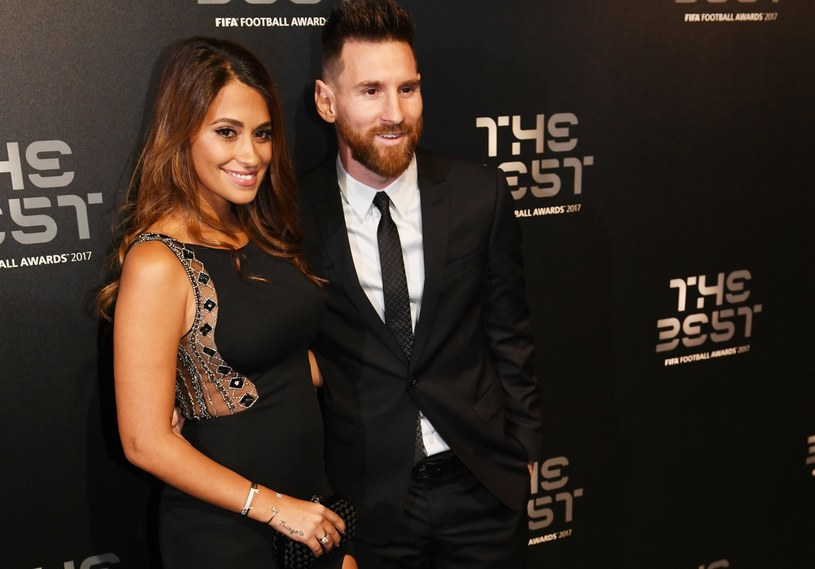 Lionel Messi z żoną Antonellą Roccuzzo /PAP/EPA