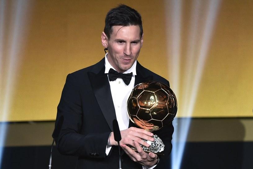 """Lionel Messi ze """"Złotą Piłką"""" /AFP"""