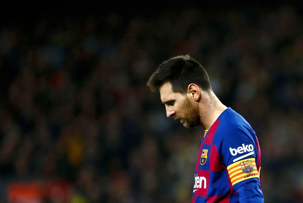 Lionel Messi /ENRIC FONTCUBERTA /PAP/EPA