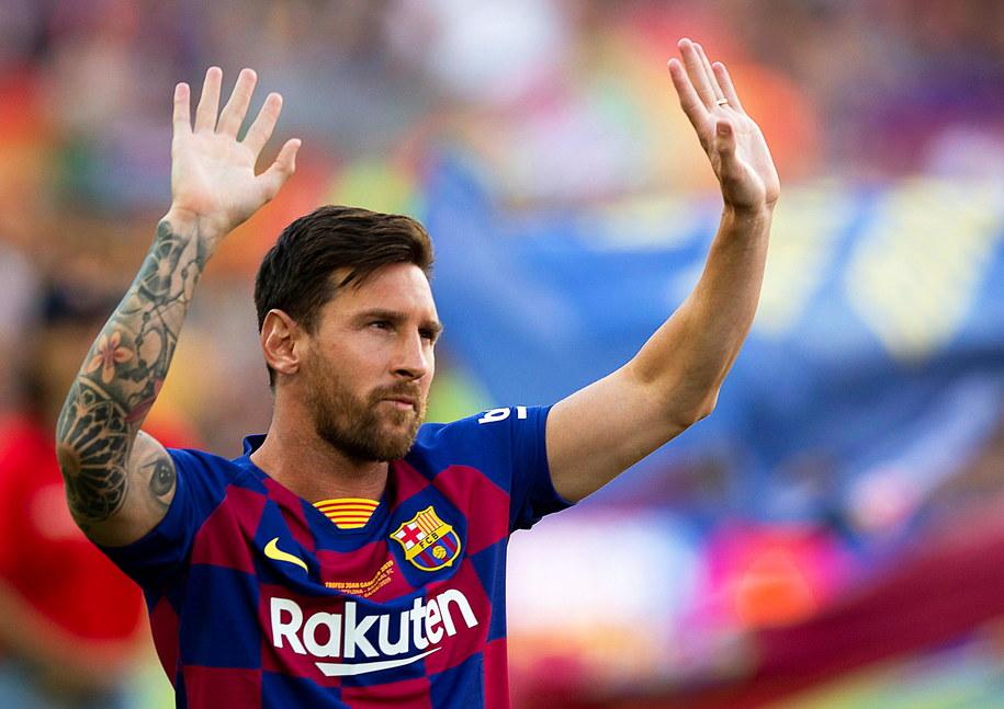 Lionel Messi /ANDREU DALMAU /PAP/EPA