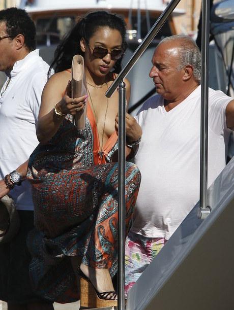 Lionel Richie i jego dziewczyna spędzili urlop w Saint Tropez /Abaca /East News