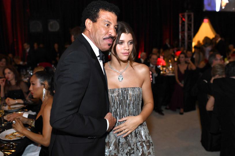 Lionel Richie z córką Sofią /Dimitrios Kambouris /Getty Images