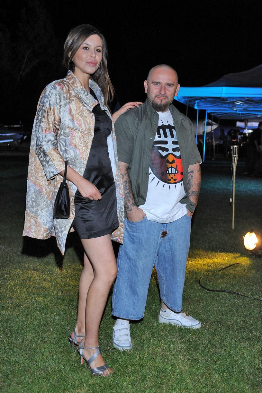 Liroy z żoną Joanną Krochmalską /Andras Szilagyi /MWMedia