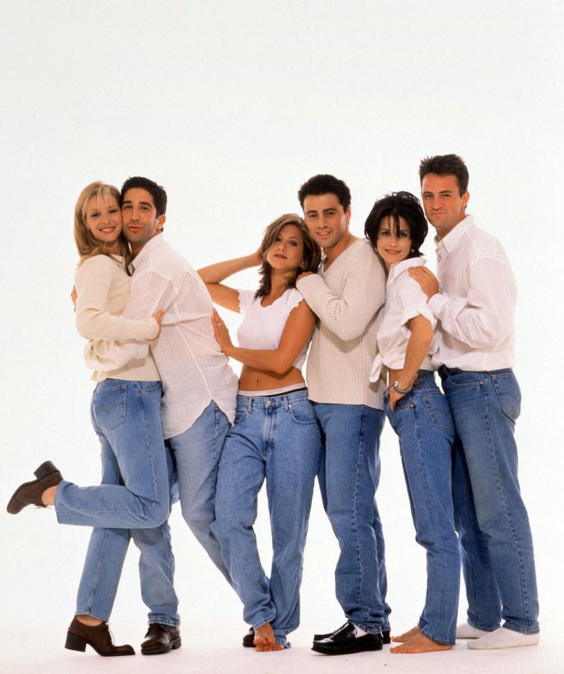 """Lisa Kudrow, David Schwimmer, Jennifer Aniston, Matt LeBlanc, Courteney Cox i Matthew Perry dostaną za udział w specjalnym odcinku """"Przyjaciół"""" po 2,5 mln dolarów /WARNER BROS TV / Album /East News"""