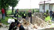 Lisewo Malborskie: Strażacy walczą z wysiękiem wału