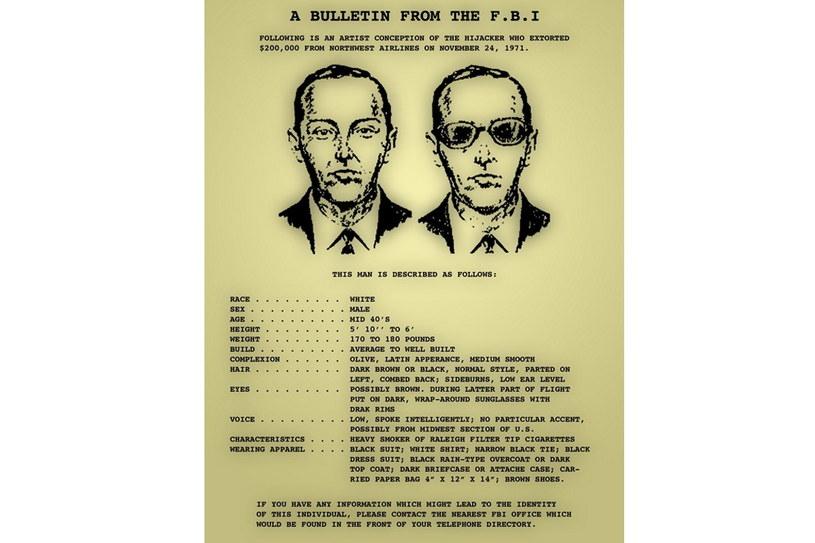 List gończy rozesłany przez FBI za porywaczem /Wikimedia Commons /domena publiczna