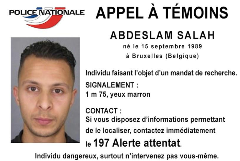 List gończy za podejrzanym o zamachy w Paryżu /AFP