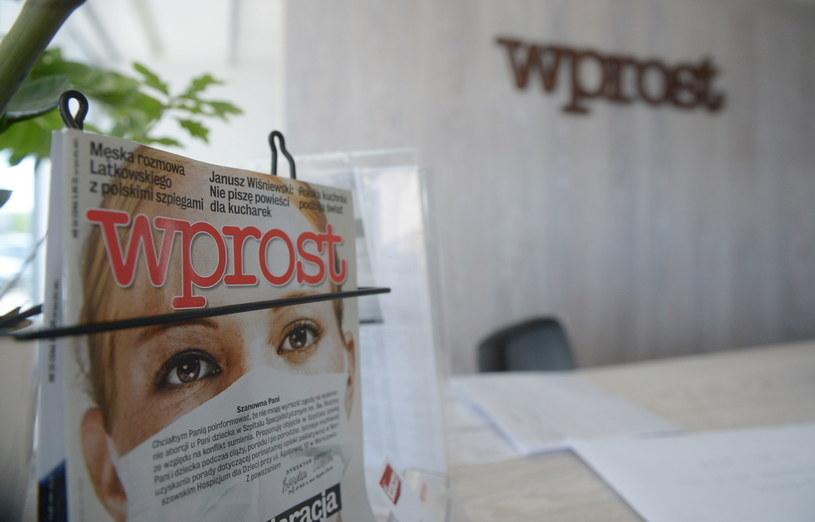 """List w obronie """"Wprost"""" /Radek Pietruszka /PAP"""