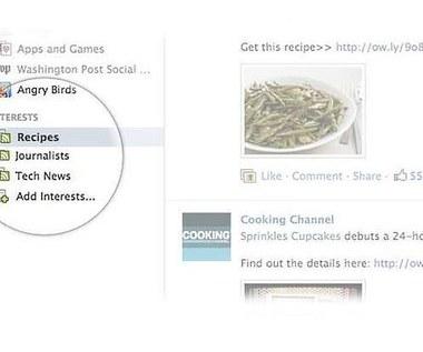 Lista zainteresowań - nowa funkcja na Facebooku