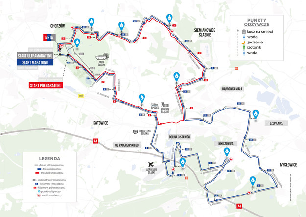 Lista zamkniętych ulic na trasie Silesii Marathonu /Silesia Marathon /Materiały prasowe