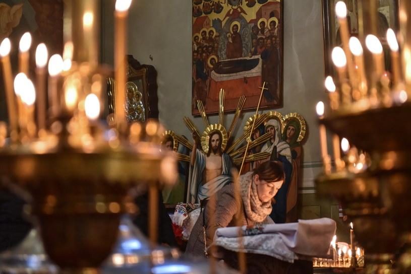 Liturgia święta w Katedrze Prawosławnej Przemienienia Pańskiego w Lublinie /Wojtek Jargiło /PAP