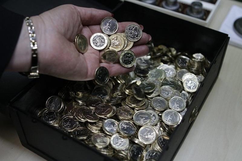 Litwa ma już pierwsze monety euro /VALDA KALNINA /PAP/EPA