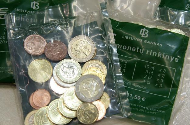 Litwa sama wybiła swoje monety euro /AFP
