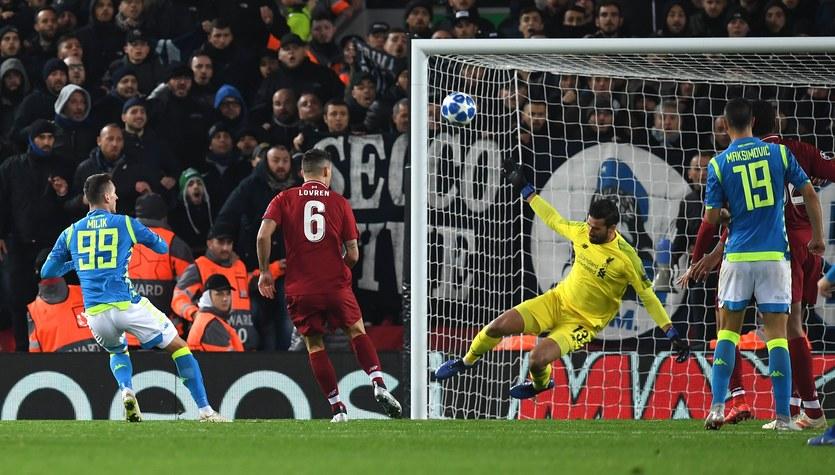 Liverpool - Napoli 1-0. Arkadiusz Milik o zmarnowanej piłce meczowej