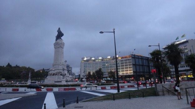 Lizbona. Nawet w centralnych punktach stolicy Portugalii panuje bardzo umiarkowany ruch /INTERIA.PL