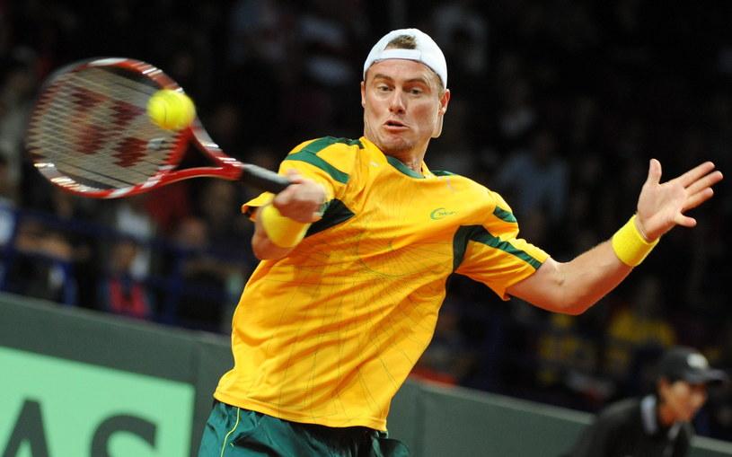 Lleyton Hewitt wygrał z Łukaszem Kubotem 6:1, 6:3, 6:2 w pierwszym meczu barażu o awans do Grupy Światowej Pucharu Davisa /Bartłomiej Zborowski /PAP