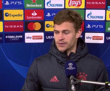 LM. Joshua Kimmich: Wynik z pierwszego meczu pomógł nam dobrze wejść w drugi (POLSAT SPORT). Wideo