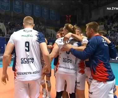 LM siatkarzy. Zenit Kazań - Grupa Azoty ZAKSA Kędzierzyn-Koźle 2:3. Ostatnia akcja meczu (POLSAT SPORT). Wideo