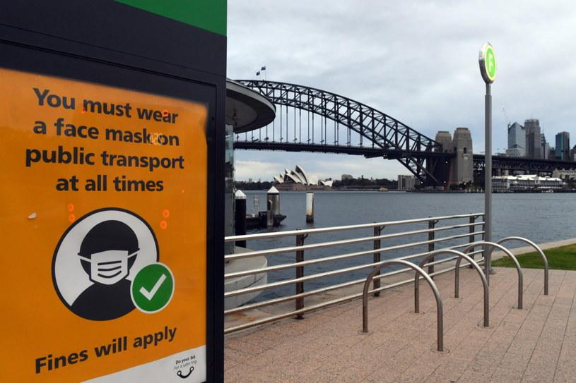 Lockdown w Sydney /MICK TSIKAS /PAP/EPA