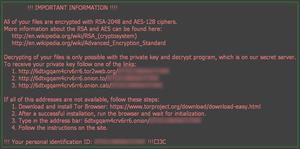 Locky - szkodliwy program szyfrujący dane