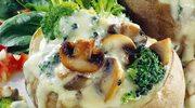 Łódeczki z brokułami i pieczarkami