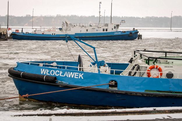 Lodołamanie na Zbiorniku Wodnym Włocławek w środkowym biegu Wisły, od Płocka do Włocławka, zostało zawieszone do 17 lutego / Tytus Żmijewski    /PAP