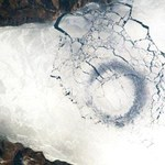Lodowe kręgi na Bajkale