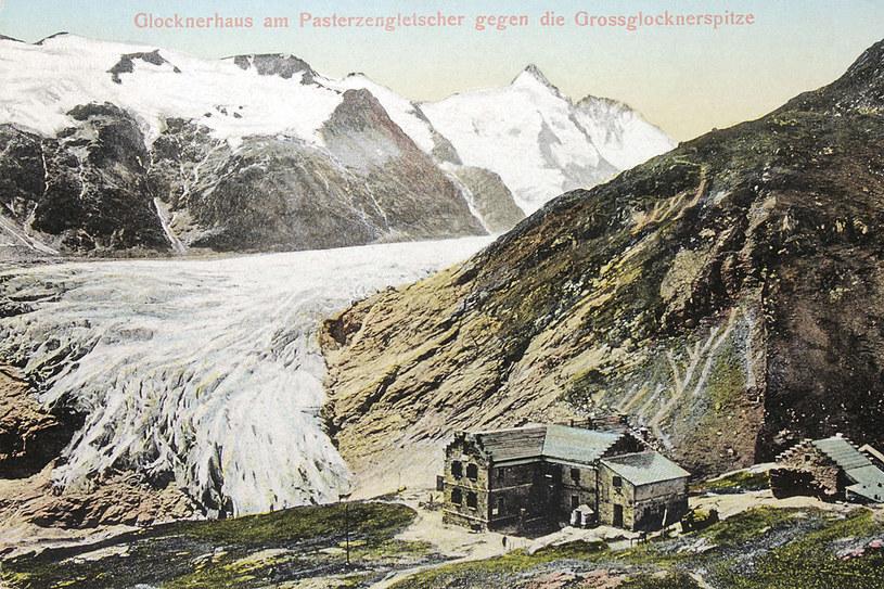 Lodowiec Pasterze - pocztówka z 1912 roku /123RF/PICSEL