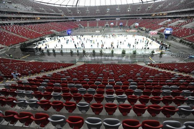 Lodowisko na Stadionie Narodowym. Fot. Bartłomiej Zborowski /PAP